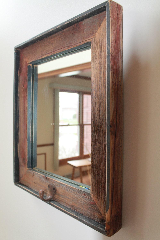 Barn Wood Mirror Rustic Home Decor: Barnwood Mirror Barn Wood Mirror Old Wood Mirror Reclaimed