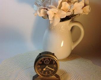 Westclox Baby Ben DeLuxe Alarm Clock Vintage Clock Black Face Vintage Baby Ben DeLuxe Shabby Vignette Decorative Accent Prop
