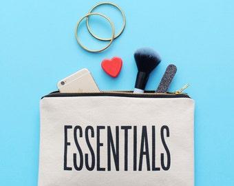 Travel Wallet - Canvas Pencil Pouch - Large Canvas Pouch - Makeup Zipper Bag - Makeup Bag Canvas - Essentials Pouch - Alphabet Bags