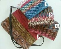 Raffia Yarn Hand-knitted Pouch