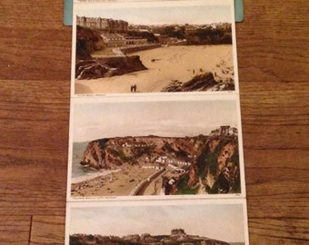 Vintage 6 View Letter Card of Newquay, England.