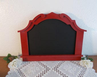 Red Chalkboard Up Cycled Vintage Wood Christmas Holiday Wedding Reception Buffet Decoration Country Cottage Farmhouse Home Decor