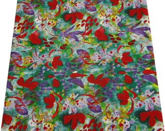 "Handmade Craft Cotton Fabric With Multicolor Floral Pattern 41"" Wide Sew Cushion Drape Dress Making Material Faric By 1 Yard ZBC4275"