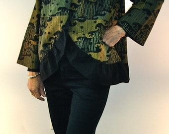 Waterlily, Asian Inspired Cotton Jacket - SP13-5037