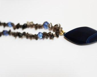 Blue Pendant Vintage Necklace