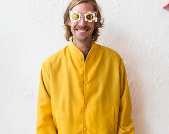 Retro Mustard Raincoat / Spray Jacket