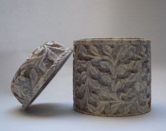 Decorated box, soapstone