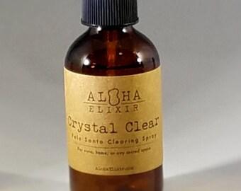Crystal Clear Palo Santo Clearing Spray by Aloha Elixir