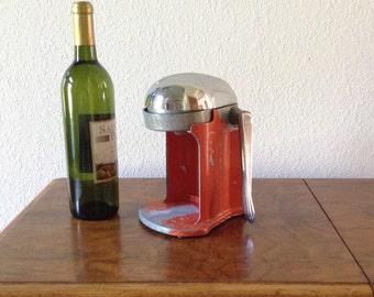 Vintage Juice - 0 - Mat, Juicer, Barware, Kitchen Decor, Red Juicer