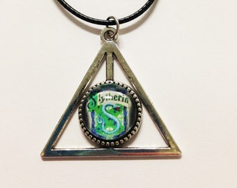 Deathly Hallows Slytherin Harry Potter Necklace