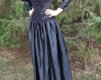 Black Victorian Steampunk Dress