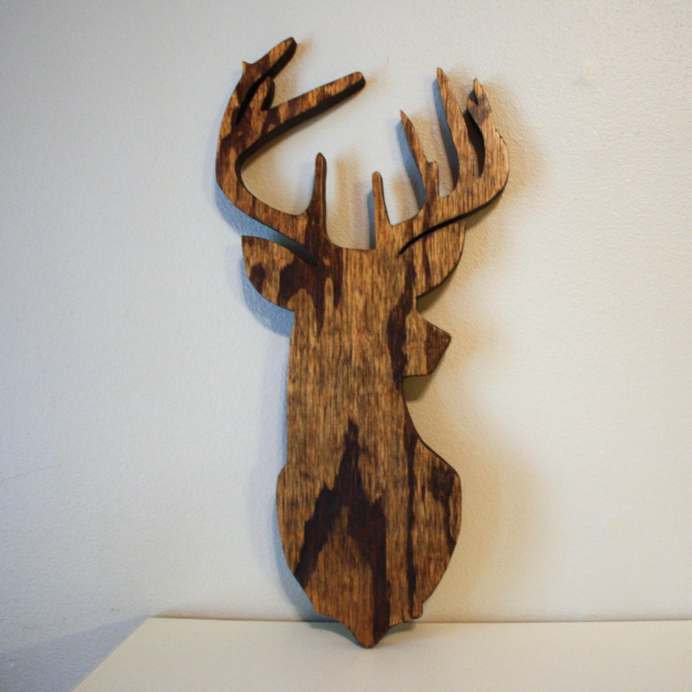 Deer wall decor southern decor southern home hunting decor for Art wall decoration