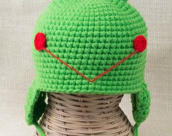 Frog Hat - Toddler Frog Hat - Child Frog Hat - Crochet Hat - Animal Hat
