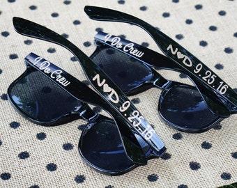 Bachelorette Sunglasses / Personalized Sunglasses / Wedding Sunglasses / 5 Glitter Sunglasses / Custom Sunglasses / Bachelorette Party
