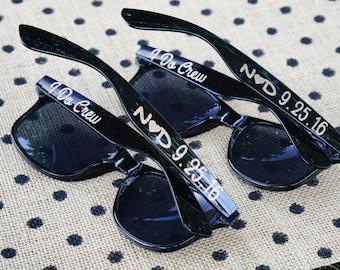 Bachelorette Sunglasses Personalized Wedding 5 Glitter Custom