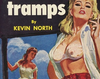 pulp art print Cotton Tramps  —  vintage pulp paperback book cover print
