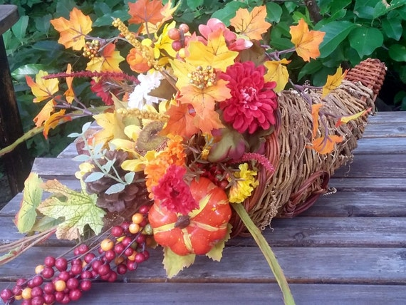 Sale fall centerpiece thanksgiving cornucopia