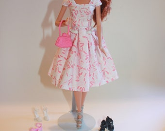 Barbie Dress, Barbie clothes, Pink Barbie Dress, kayleesboutique03
