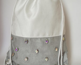 backpack of alcantara fabric