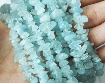 Aquamarine Chips, Gemstone Beads, Blue Beads, Genuine Aquamarine, Chip Beads, Small Beads,