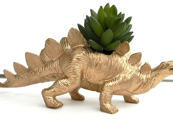 SALE! Gold Dinosaur Planter Great for Succulents
