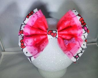 Hello Kitty inspired hair bow