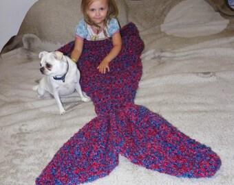 Crochet Mermaid Tail Blanket, Crochet Mermaid Blanket, Adult Mermaid Tail Blanket, Kids Mermaid Tail blanket, Mermaid Room Decor, College