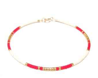 Fine Bracelet dainty bracelet gold seed bead bracelet Gold Beaded Bracelet friendship bracelet