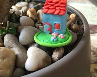 Pot blue miniature House decoration