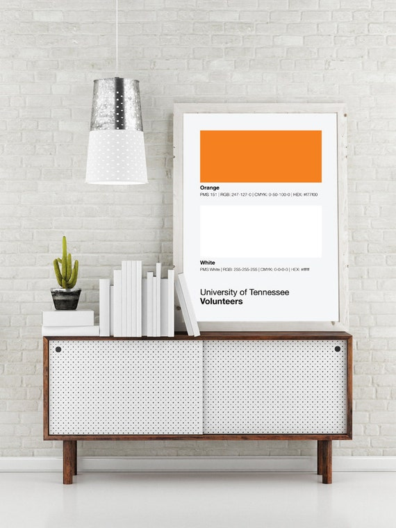 University of tennessee vols pantone poster ut by sproutjam for Poster decoratif