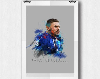Gary Hooper - Sheffield Wednesday - A4 Poster