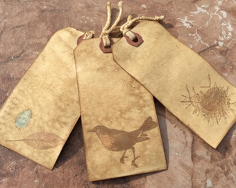 Grungy Rustic Bird Tags