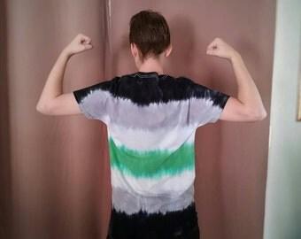 Agender Pride Flag Unisex Tie Dye T Shirt