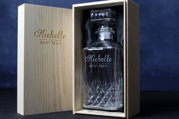 11 Sets Personalized Whiskey Decanter With Wooden Box By