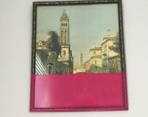 Painting Landscape Scenery Dip Died Pink Wall Art