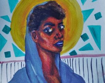 Watercolor Bust Portrait