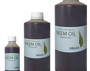 100% Pure Neem Oil Unrefined Cold Pressed 100ml, 200ml, 500 ml, 1 Litre (1L)
