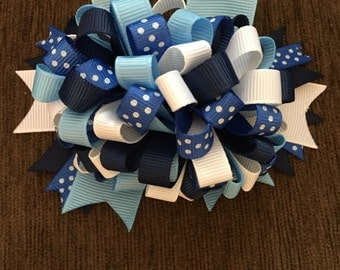 Blue and White Dots Pony Tail Holder
