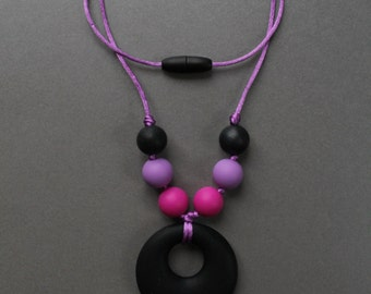 OLIVIA - Necklace mother of teething chew by baby TOUPIDOU silicone