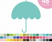 48 Umbrella Clipart, Umbrella Clip Art, PNG and JPEG Umbrella, Umbrella Icons, Umbrella Scrapbooking, Digiscrapping, CL-39