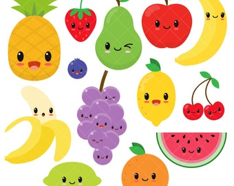 "Shop ""kawaii fruit"" in Art & Collectibles"