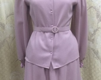 Dusty Rose Colored Wool Suit/Size 8/Rina diMontella