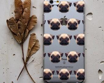 Kawaii Animal Pug Dog Design on iPhone 6s Case iPhone 5 Case iPhone 6 Cover iPod Touch 4 Case Samsung Galaxy S5 Case Samsung Note 3 Case 187
