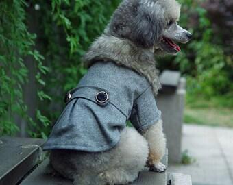 Faux Fur Dog Coat Size S