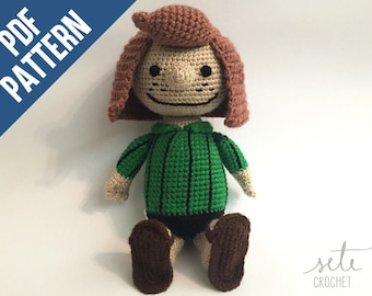 Amigurumi Crochet Pattern - Peppermint Patty [Peanuts]