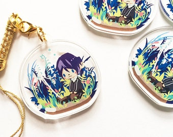 Yato Noragami Crystal Clear Acrylic Charm, Game Anime Cellphone Strap