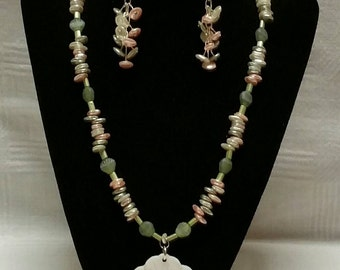 Pearl Multi Colored Shell Stone Necklace