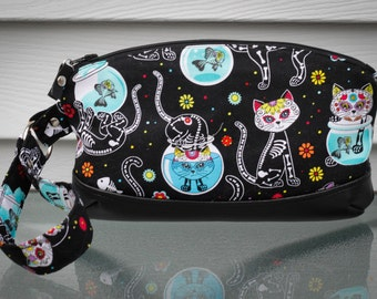 Day of the Dead Kitty Clutch