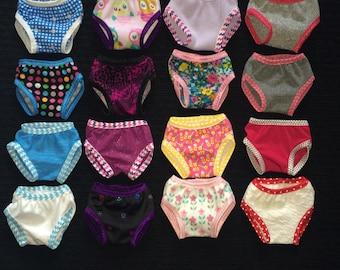 American Girl Doll Panties Set of 3 Mix and Match American Girl Doll Underwear Fits 18 Inch Dolls 18 Inch Doll Panties