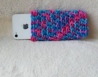 Crochet Phone Sleeve, Crochet Phone Case, Cell Phone Sleeve, Multi color Phone Sleeve, iPhone, Samsung Galaxy Case, iPhone 4 4s 5 5s 6 plus